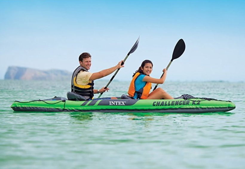 Intex Challenger K2 Kayak, 2 Person uYFvIk Inflatable Kayak Set with Aluminum Oars